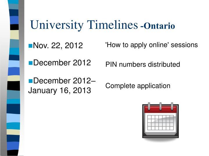 University Timelines