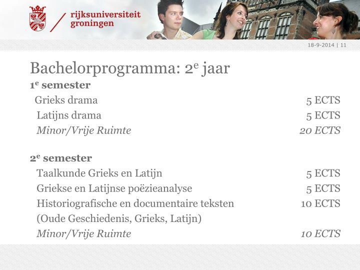 Bachelorprogramma: 2
