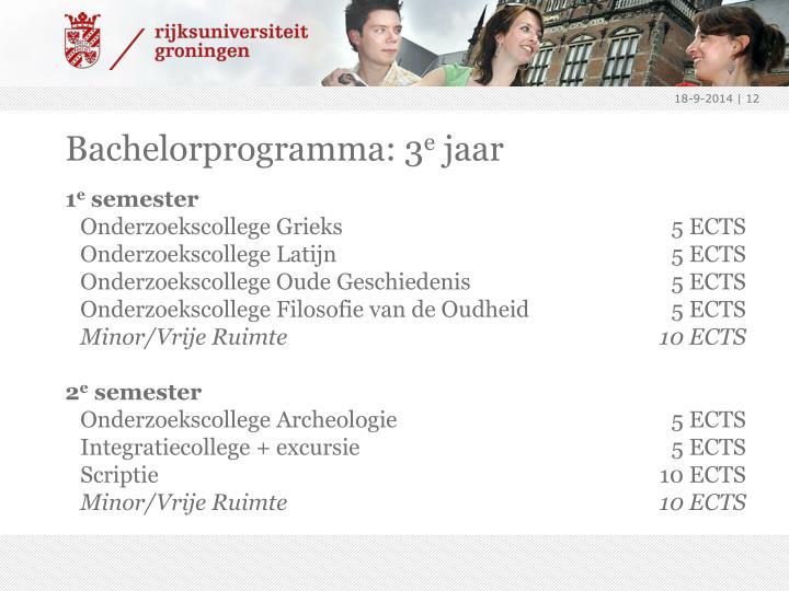 Bachelorprogramma: 3