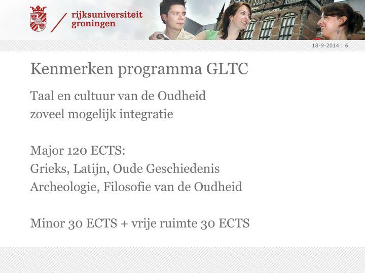 Kenmerken programma GLTC