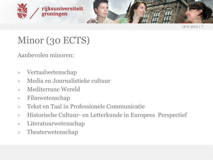 Minor (30 ECTS)