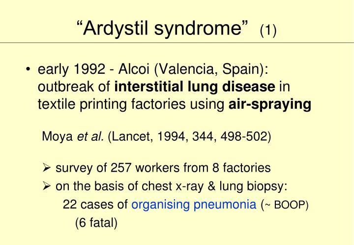 """""""Ardystil syndrome"""""""