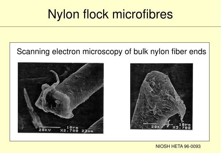 Nylon flock microfibres