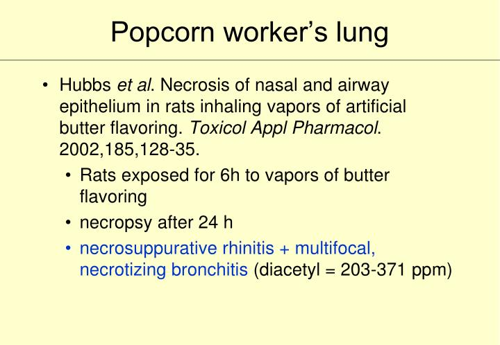 Popcorn worker's lung