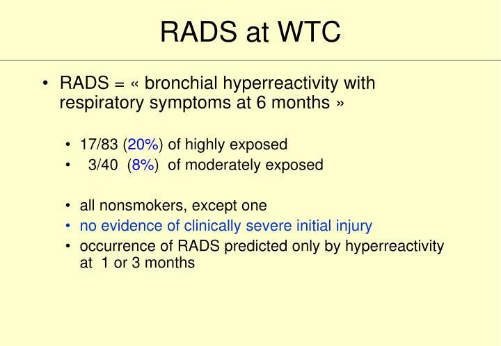 RADS at WTC