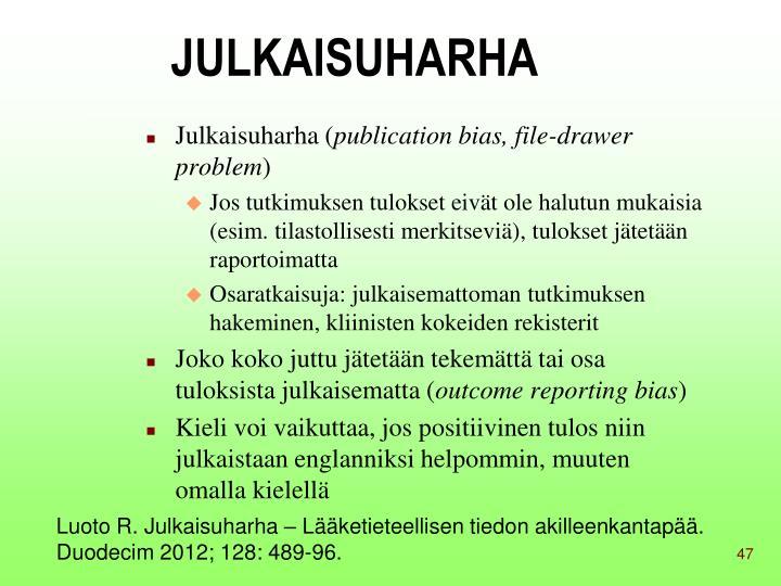 JULKAISUHARHA