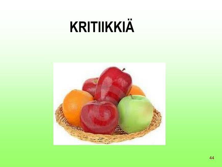 KRITIIKKIÄ