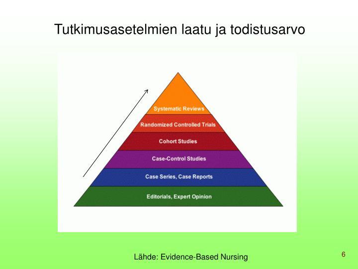 Tutkimusasetelmien laatu ja todistusarvo