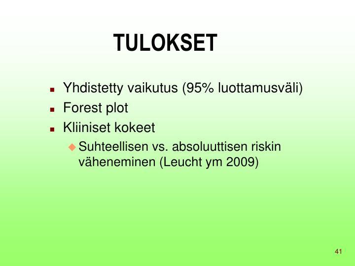 TULOKSET