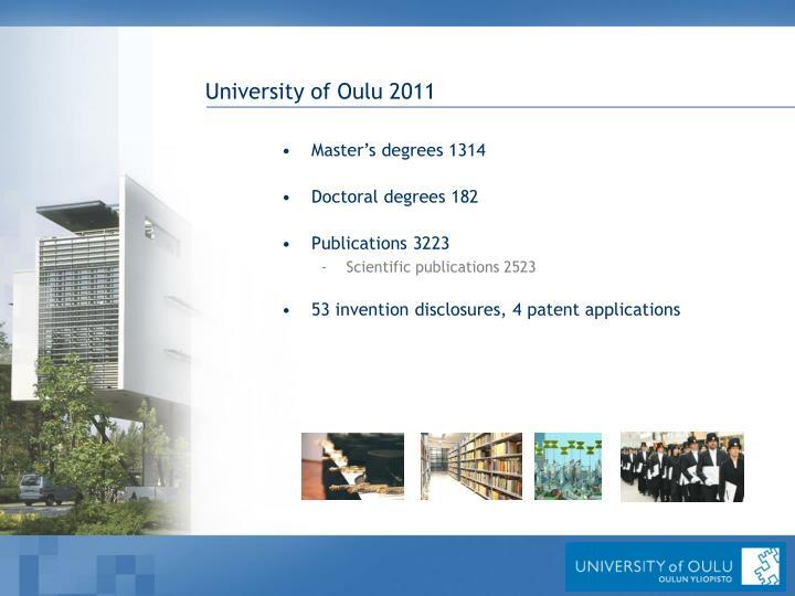 University of Oulu 2011