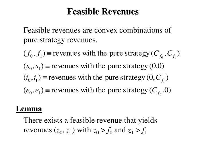 Feasible Revenues
