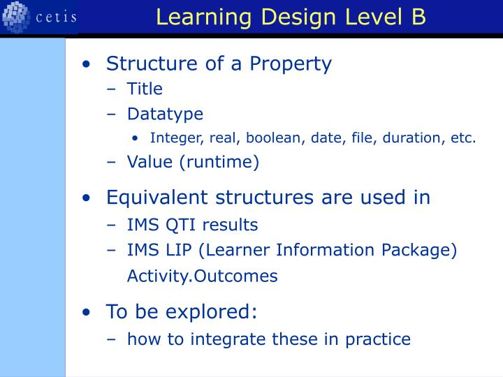 Learning Design Level B