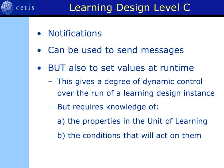 Learning Design Level C