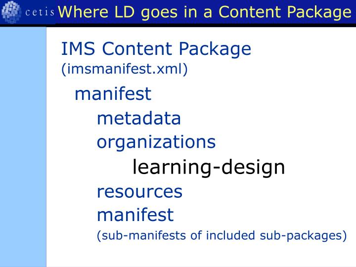 Where LD goes in a Content Package