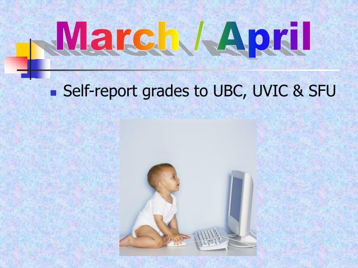 March / April