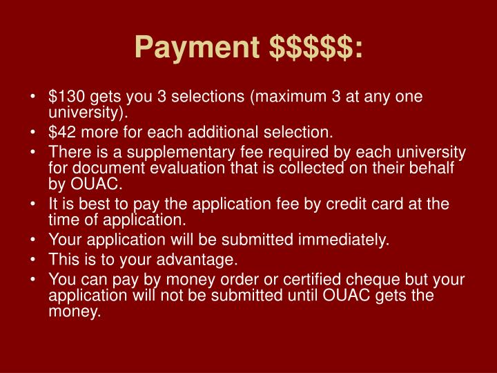 Payment $$$$$: