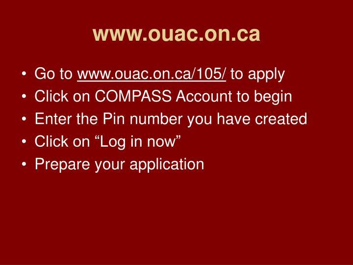 www.ouac.on.ca