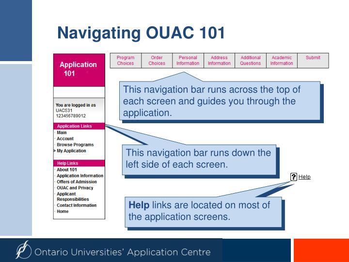 Navigating OUAC 101