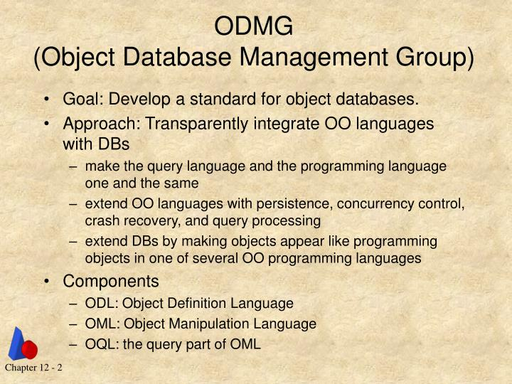 Odmg object database management group