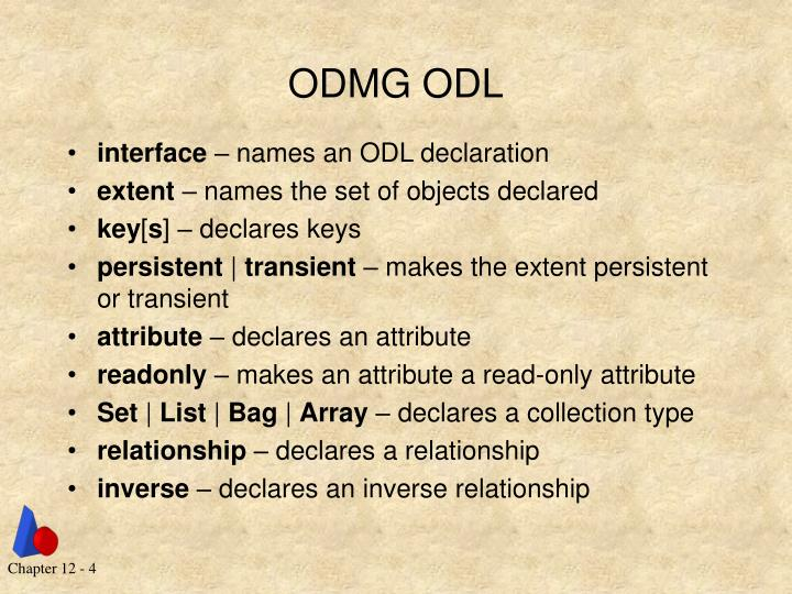ODMG ODL
