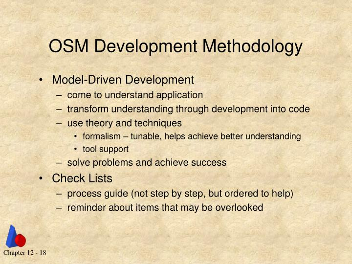 OSM Development Methodology