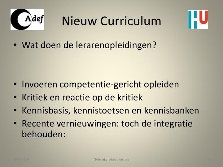 Nieuw Curriculum
