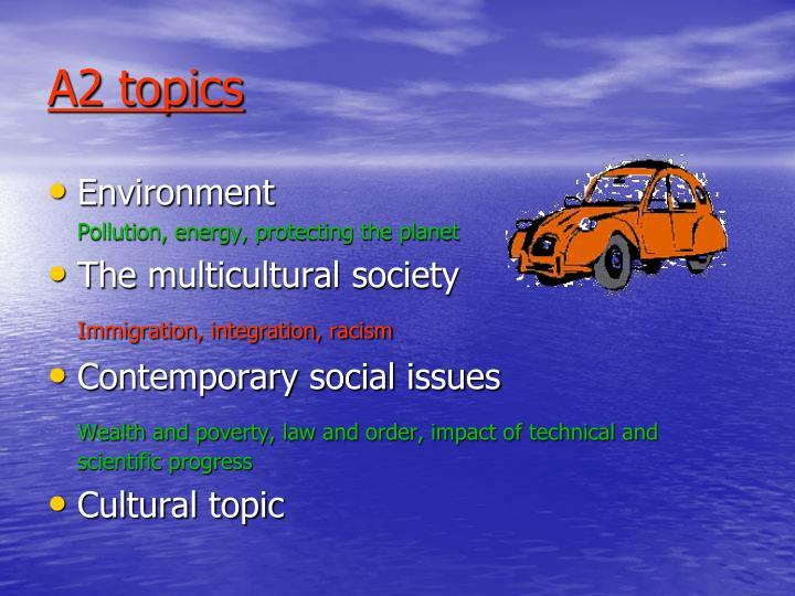 A2 topics