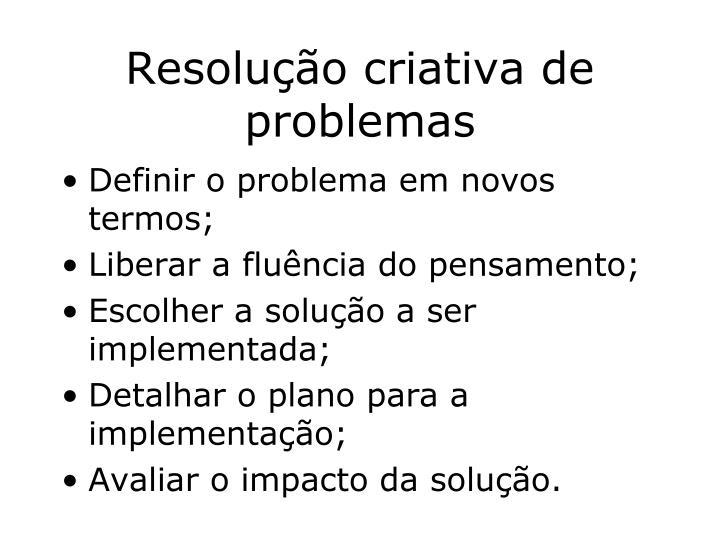 Resolução criativa de problemas