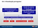 iii a fiscaliza o portuguesa