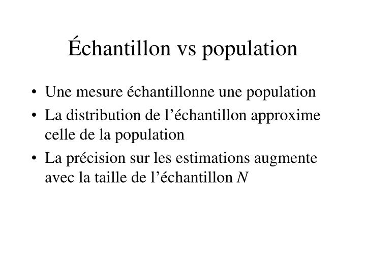 Échantillon vs population