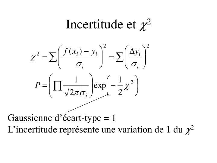 Incertitude et