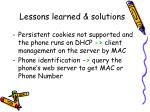 lessons learned solutions
