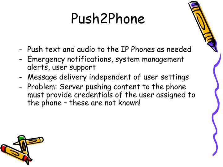 Push2Phone