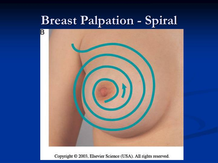 Breast Palpation - Spiral