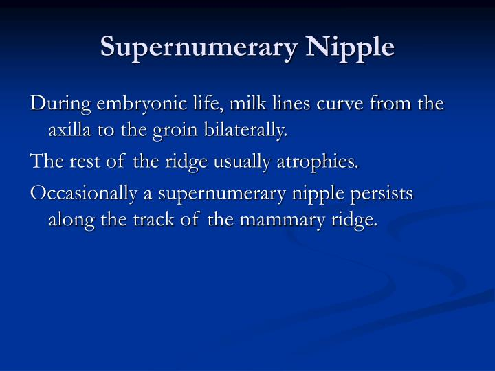 Supernumerary Nipple