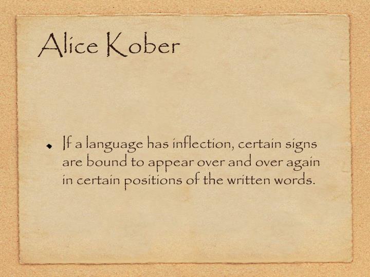 Alice Kober