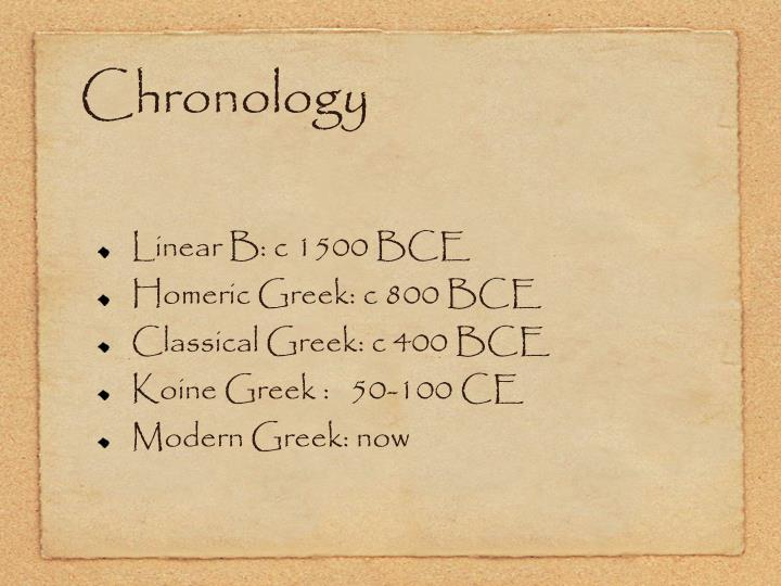 Chronology