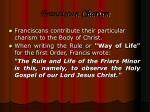 franciscan charism