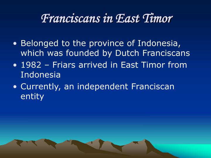 Franciscans in East Timor