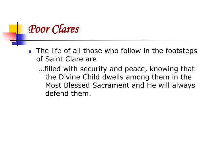 Poor Clares