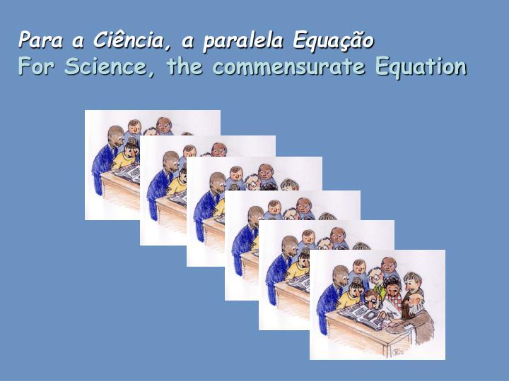 Para a Ciência, a paralela Equação
