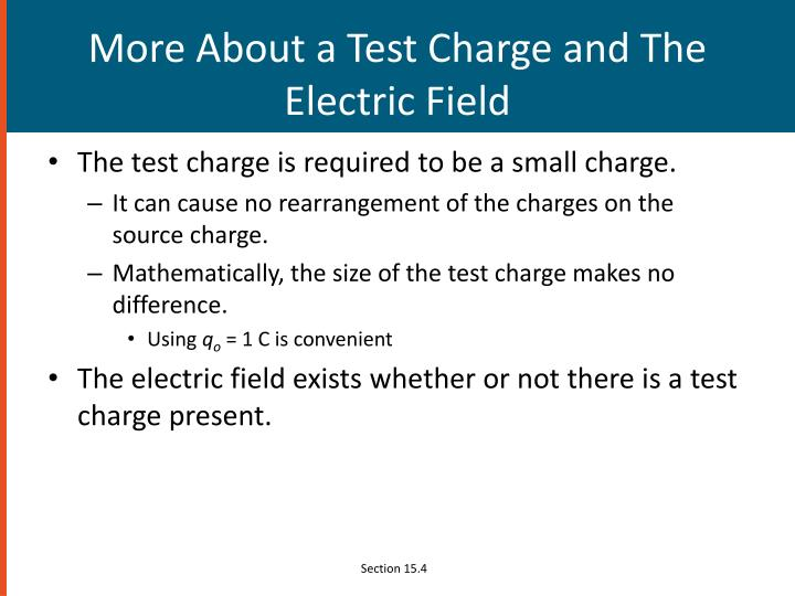 More About a Test Charge and The Electric Field