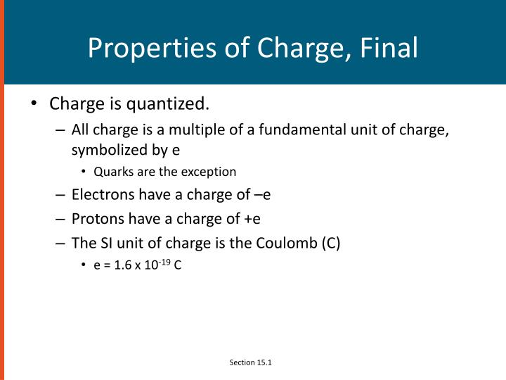 Properties of Charge, Final
