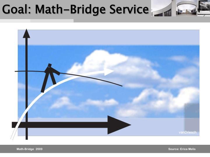 Goal: Math-Bridge Service