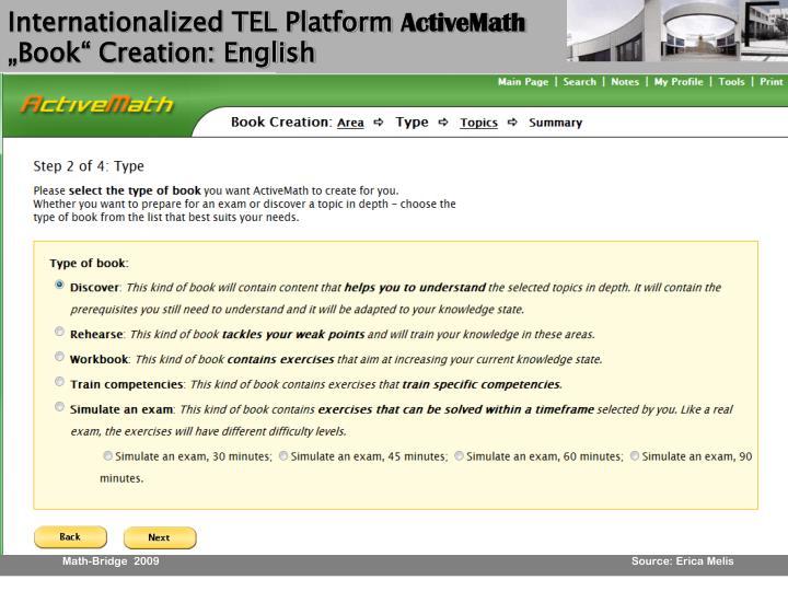 Internationalized TEL Platform