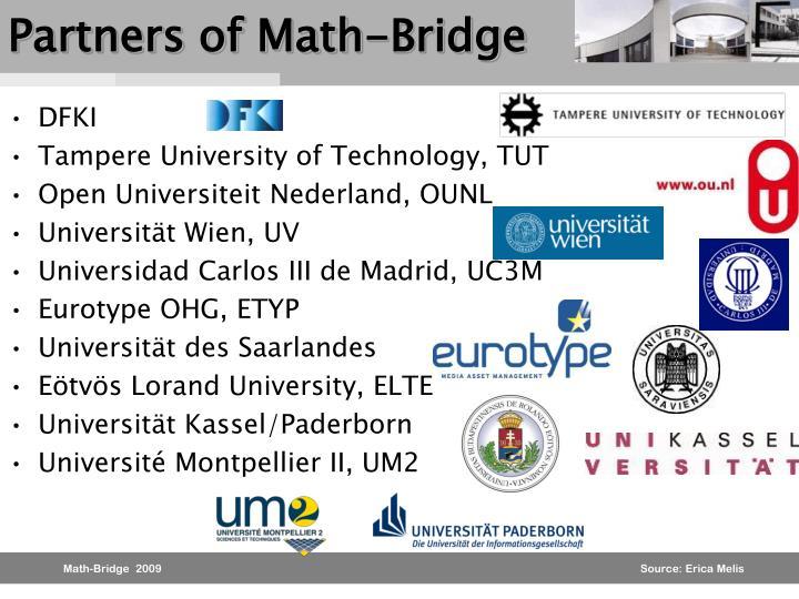 Partners of Math-Bridge