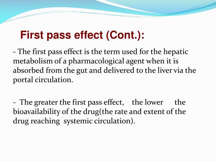 First pass effect (Cont.):