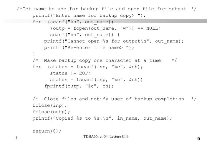 /*Get name to use for backup file and open file for output */