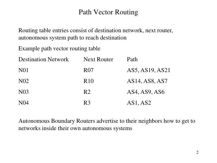 A path vector algorithm essay