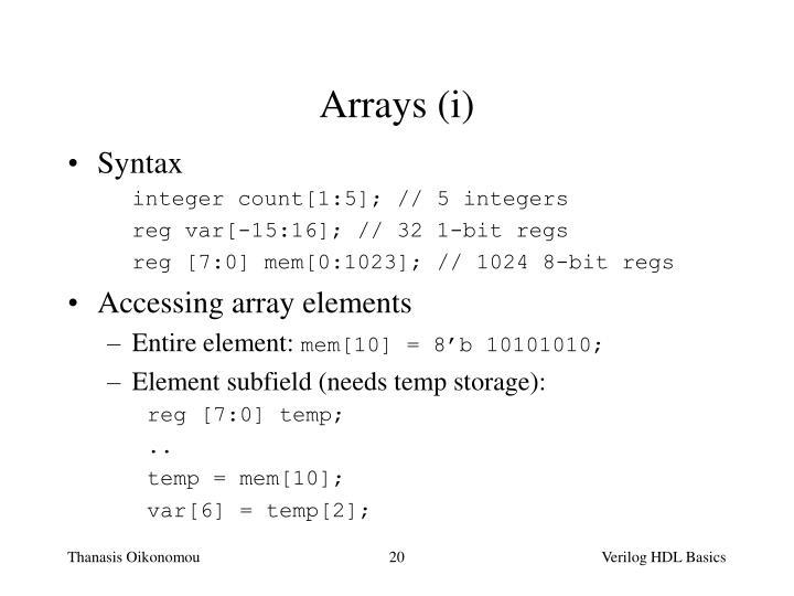 Arrays (i)